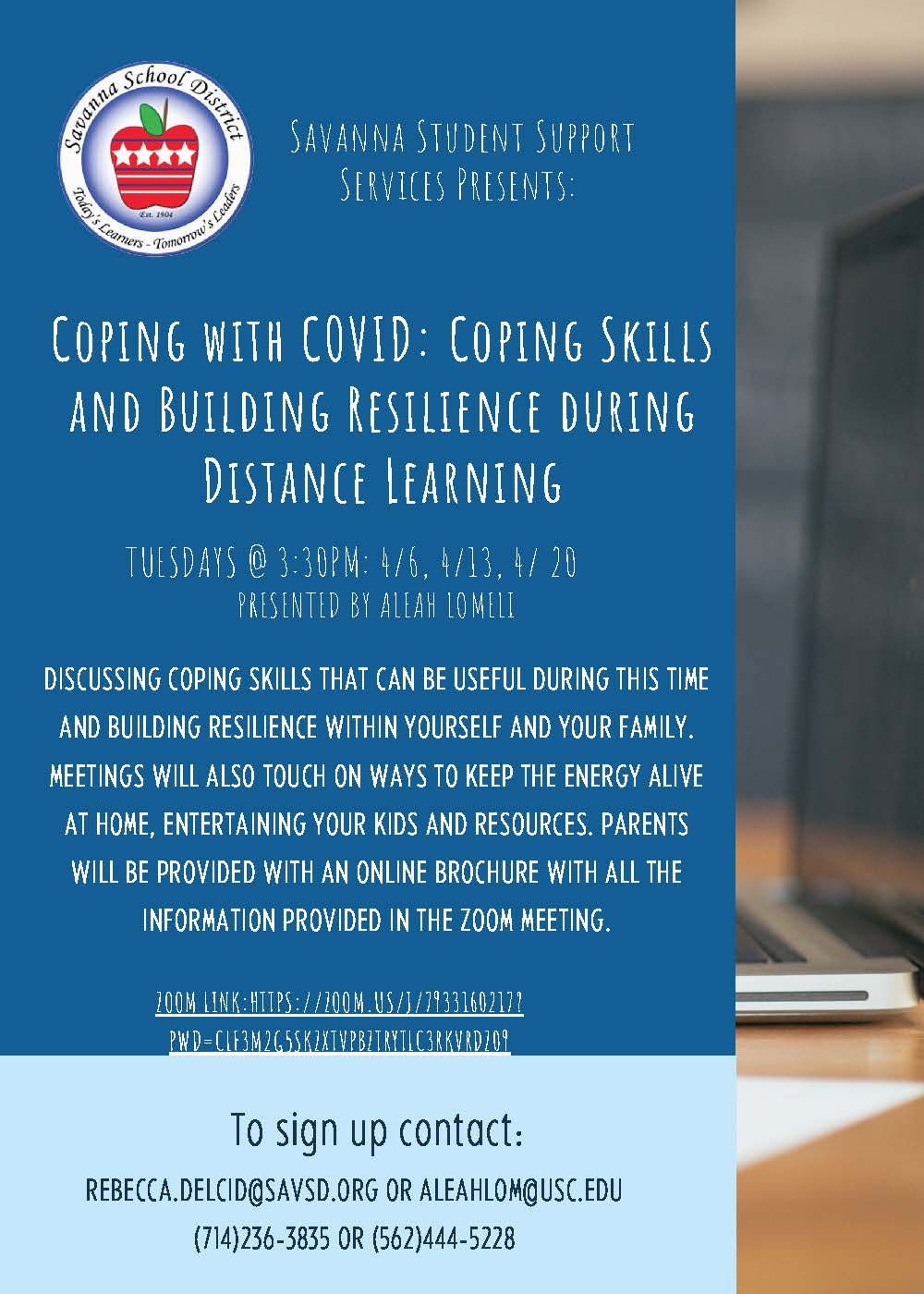 Coping Skills and Building Resilience Workshop