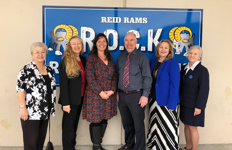 Board Members at Reid School